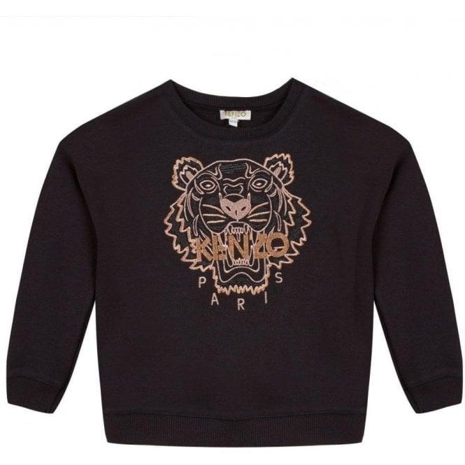 44d4ddd0 Kenzo Kids|Kenzo 14-16 Years Tiger Sweatshirt in Black|Chameleon ...