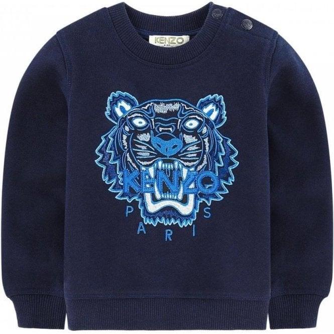 31e30aef2 Kenzo Kids|Kenzo 14-16 Years Tiger Sweatshirt in Navy|Chameleon Menswear