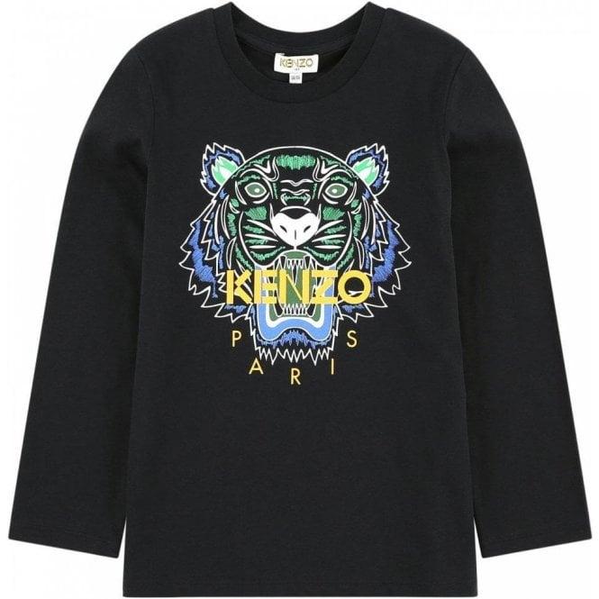6ede3e5dfc Kenzo Kids 14-16 Years Tiger Tee in Black