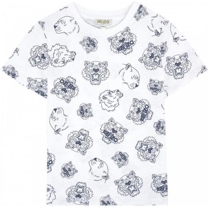 540c81c3e5 Kenzo Kids|Kenzo2-6 Years Tiger Print T-Shirt in White|Chameleon ...