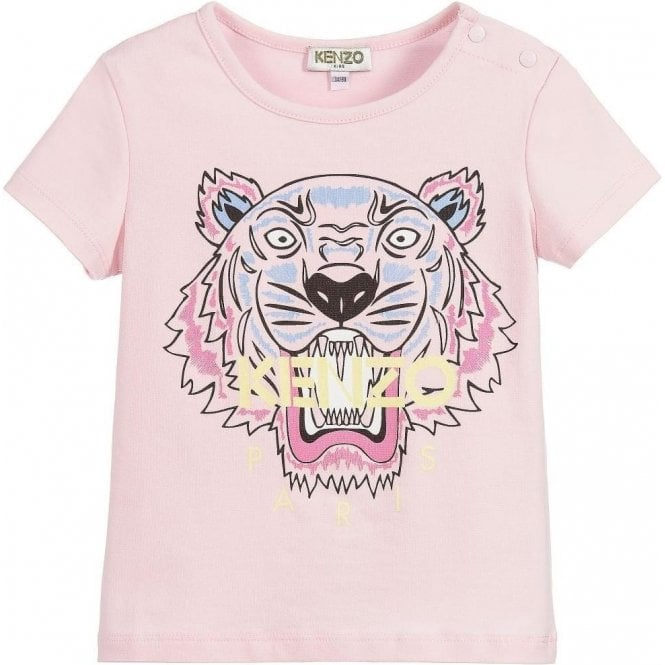0f5a43385a6 Kenzo Kids 3-18 Months Baby Tiger Tee in Pink