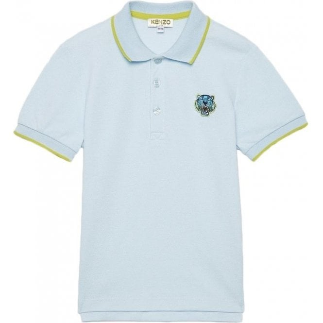 fa97d644 Kenzo Kids|Kenzo 3-18 Months Tiger Polo Shirt in Sky Blue|Chameleon ...