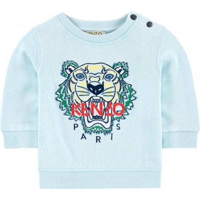 c213bd4bda39 Kenzo Kids Kenzo Baby 3M-18M Tiger Sweatshirt in Sky Blue Chameleon ...