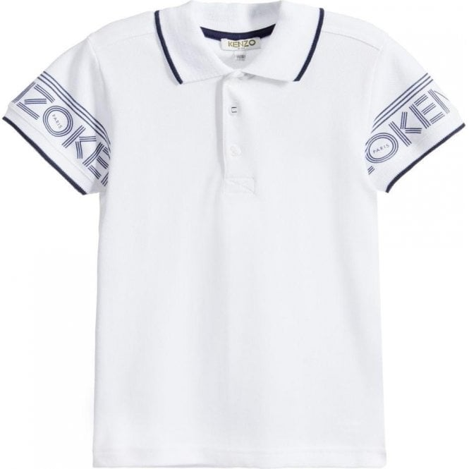 038a26f7c6 Kenzo Kids|Kenzo Kids 4-5 Years Plain Polo Top in White|Chameleon ...