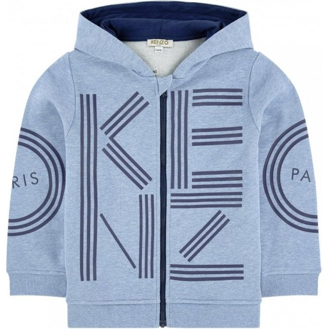 473d6ab8 Kenzo Kids 4-6 Years Zip Hooded Sweatshirt in Blue