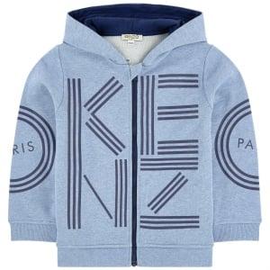 1e2b05b9 14-16 Years Zip Hooded Sweatshirt in Blue · Kenzo Kids 14-16 Years Zip  Hooded ...