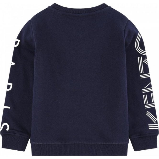 c1497c64 Kenzo Kids 8-12 Years Sleeve Logo Sweatshirt in Navy