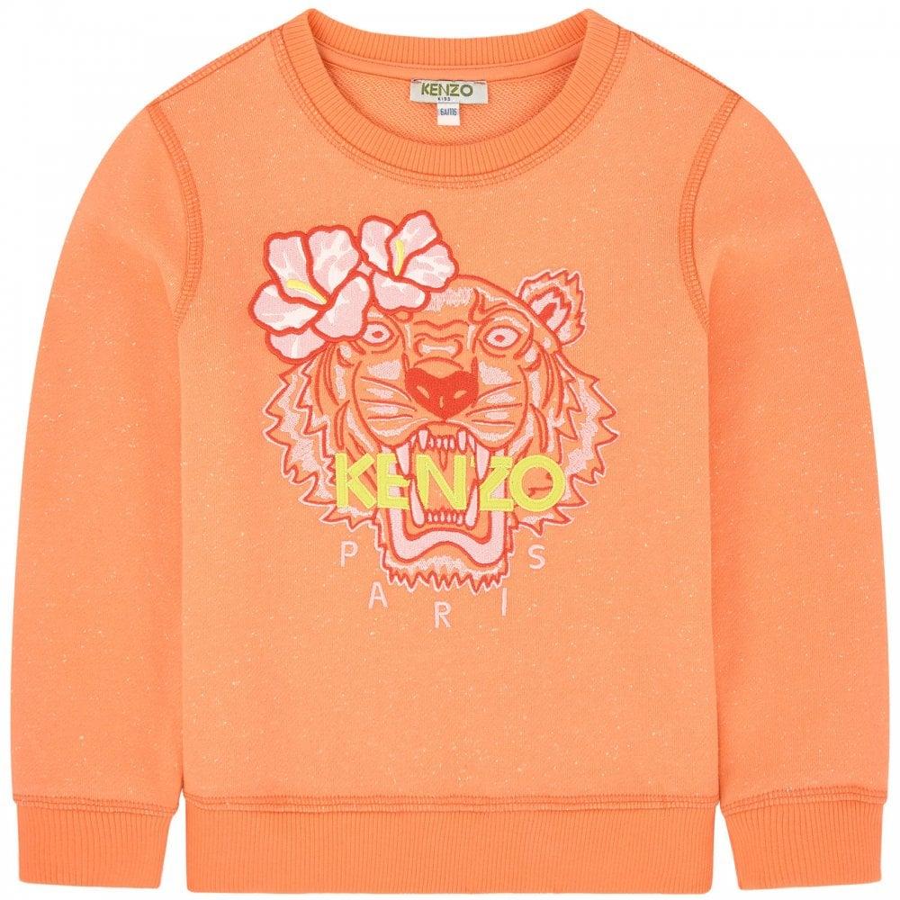 b0860531 Kenzo Kids Flower Tiger Sweatshirt in Apricot