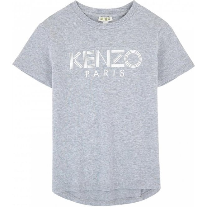 6f33389d Kenzo Kids|Kenzo Girls 14-16 Years T-Shirt in Grey|Chameleon Menswear
