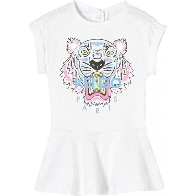 a60ab381 Kenzo Kids|Kenzo Baby 2-4 Years Tiger Dress in White|Chameleon Menswear