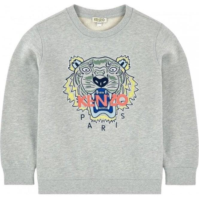f06f00b4 Kenzo Kids|Kenzo Tiger Sweatshirt in Grey|Chameleon Menswear