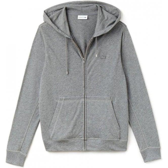 4ec3424ec Lacoste Core Hood Sweatshirt in Grey