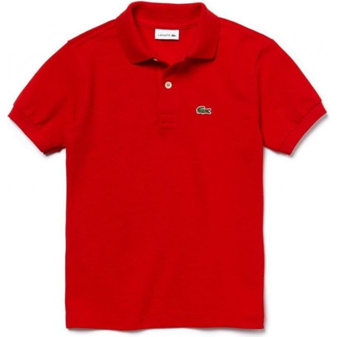 8654f66b Lacoste Kids|Lacoste Kids 14-16 Years Core-Polo Top in Red|Chameleon ...