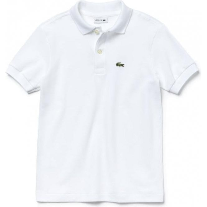 adfbc09fa7f9f Lacoste Kids 14-16 Years Unisex Core Polo Top in White