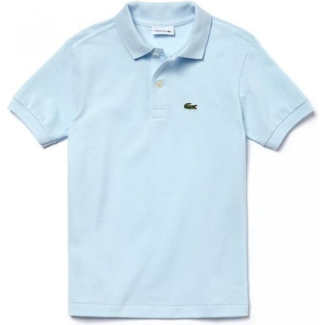 93ee59ea3 Lacoste Kids 8-10 Years Unisex Core Polo Top in Sky Blue
