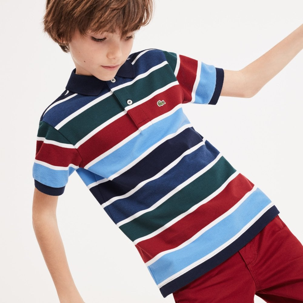 bf2a0aeee9 Lacoste Kids Striped Cotton Polo Shirt