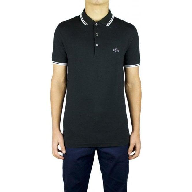 a2bd04ecf6a1 Lacoste 3D Logo Polo Shirt in Black