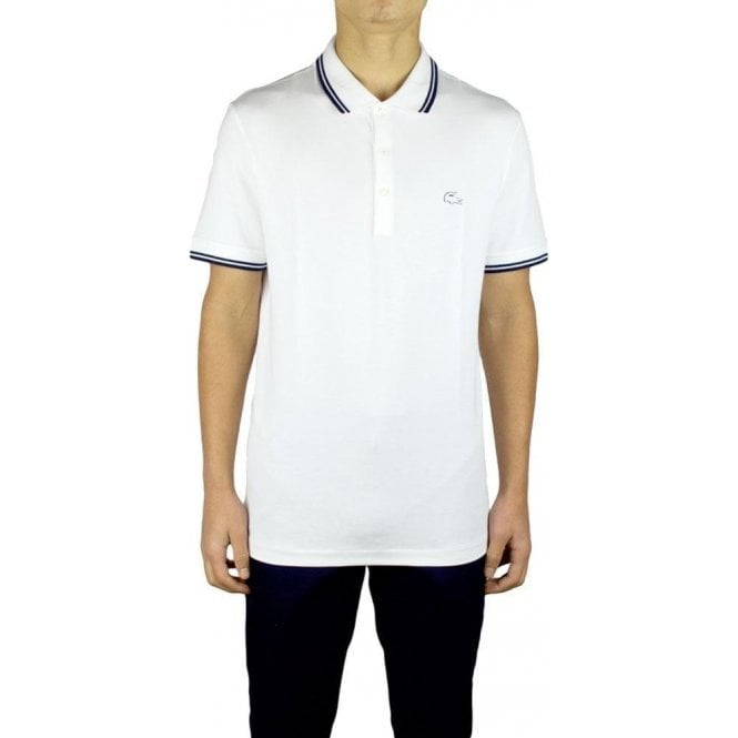 97f79adf6963 Lacoste 3D Logo Polo Shirt in White