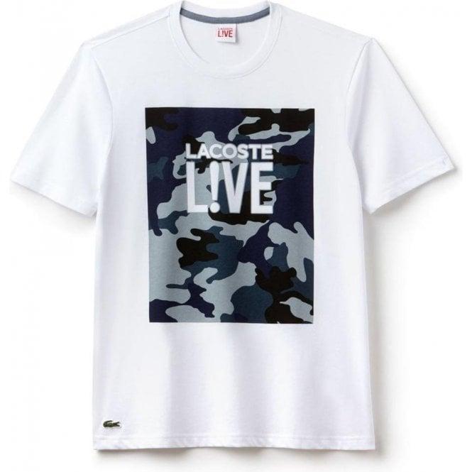 9e1dc8b4e3a33 Lacoste Lacoste Live Camo Chest T-Shirt in Navy Chameleon Menswear