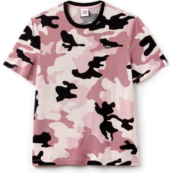 Live In Shirt Lacoste Camo T Pink OkXZiuPT