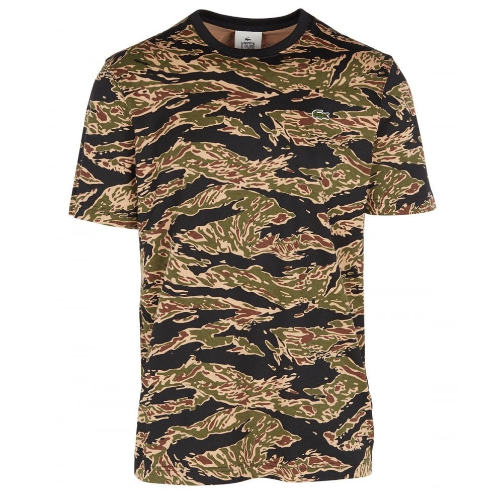Live T Print Camouflage Shirt Lacoste DY9EIW2eH