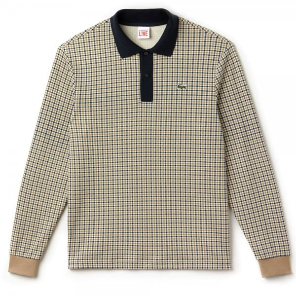 8e0a3d4a81 Lacoste Live Check Interlock Polo in Beige