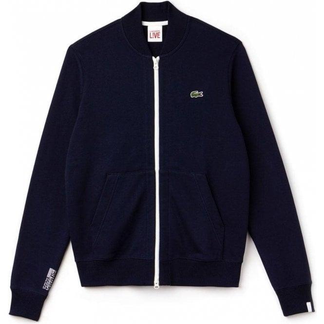 3f16442e7021b Lacoste  Lacoste Live Bomber Sweatshirt in Navy  Chameleon Menswear