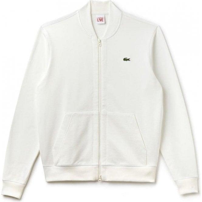 Bomber In Lacoste Unisex White Live Sweatshirt lF1cKJ