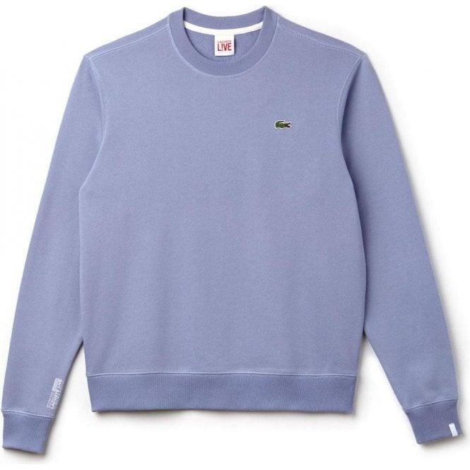 88e41a63328a0 Lacoste Live Unisex Logo Sweatshirt in Lilac