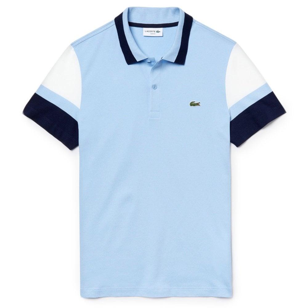 2f4896f4 Slim Fit Colourblock Polo Shirt in Light Blue