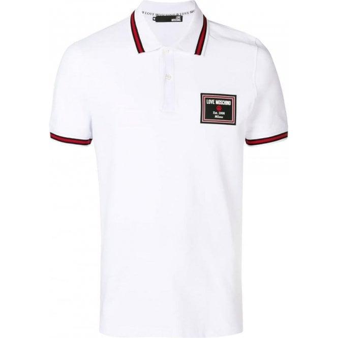 264b982f Love Moschino |Love Moschino Big Rubber Polo Shirt in White ...