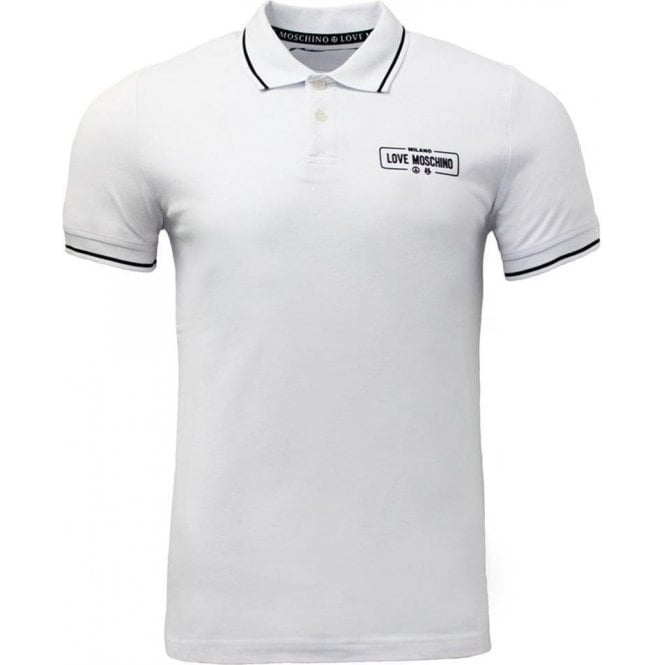 buy popular d41f6 7425b Love Moschino Love Moschino Milano Polo Shirt in White
