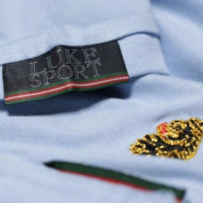 f6b2976e Luke 1977|Luke Roper Traff T-Shirt in Sky Blue|Chameleon Menswear