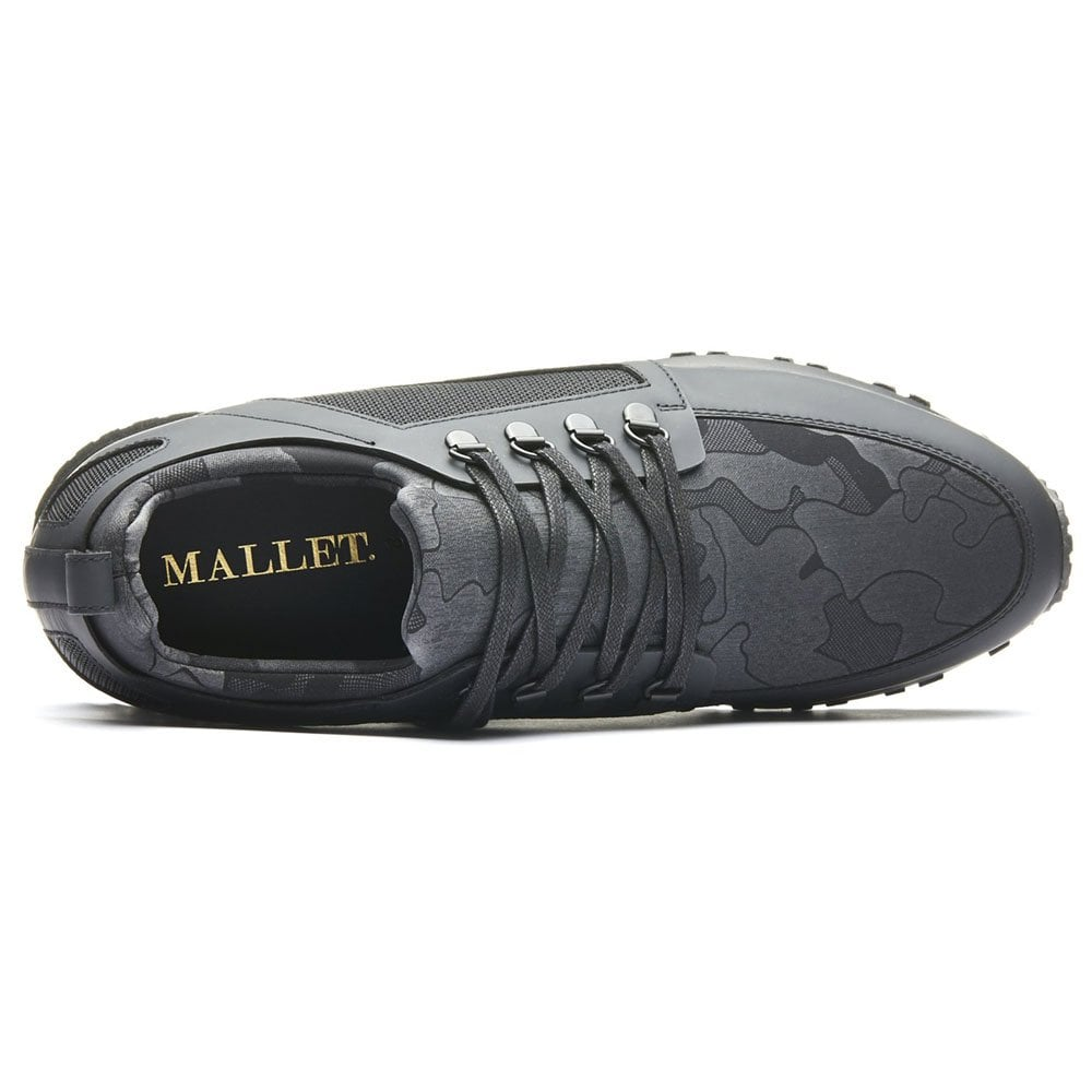 Mallet Hiker Camo Trainers in Black