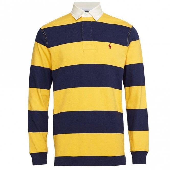 Shirt Long Polo Rugby Ralph Striped Lauren Sleeve 5cq34ARjL