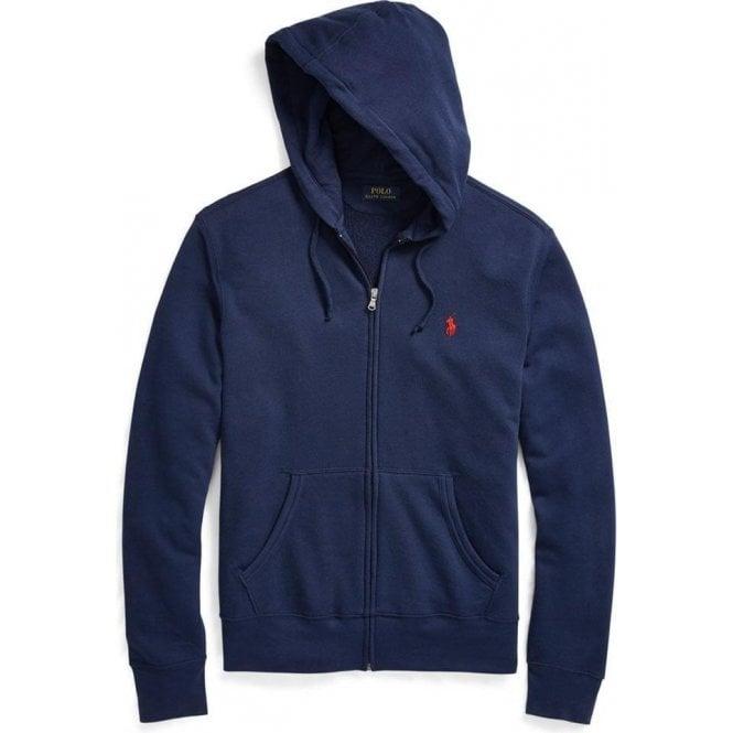 f59f507ff88287 Ralph Lauren Polo Red Logo Tracksuit Sweatshirt in Navy