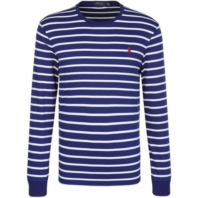 61c8ca104a14 Stripe T-Shirt in Navy and White