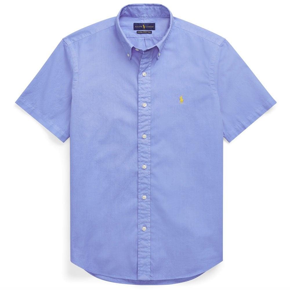 Sleeve Lauren In Blue Polo Short Sky Ralph Horse Shirt Yellow sQdCthr