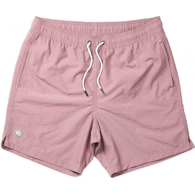 71f04ba92c Pretty Green|Pretty Green Logo Swim Shorts in Pink|Chameleon Menswear
