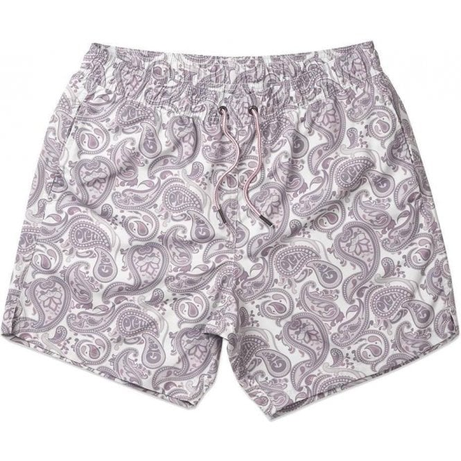 74941094d3 Pretty Green|Pretty Green Paisley Swim Shorts in Grey|Chameleon Menswear