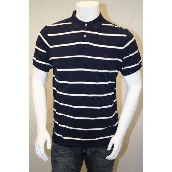 Black White Striped Ralph Lauren Polo Shirt