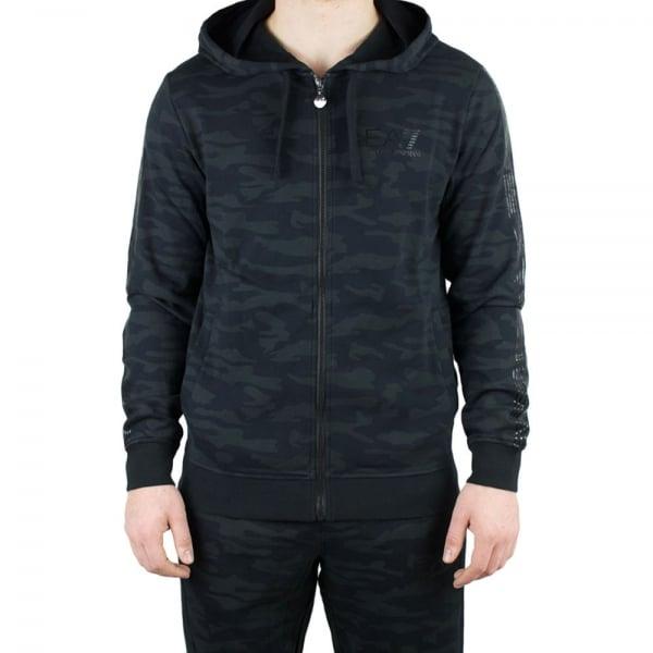 ea7 camo hoodie