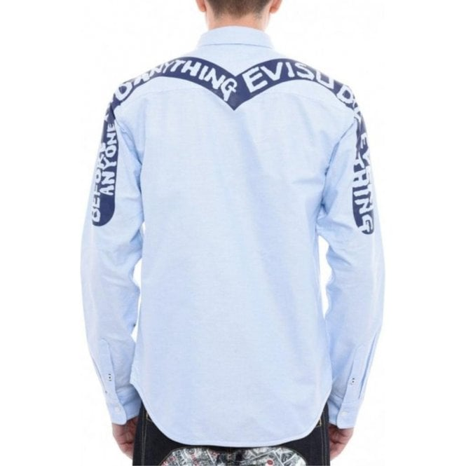Evisu Oxford Shirt in Blue