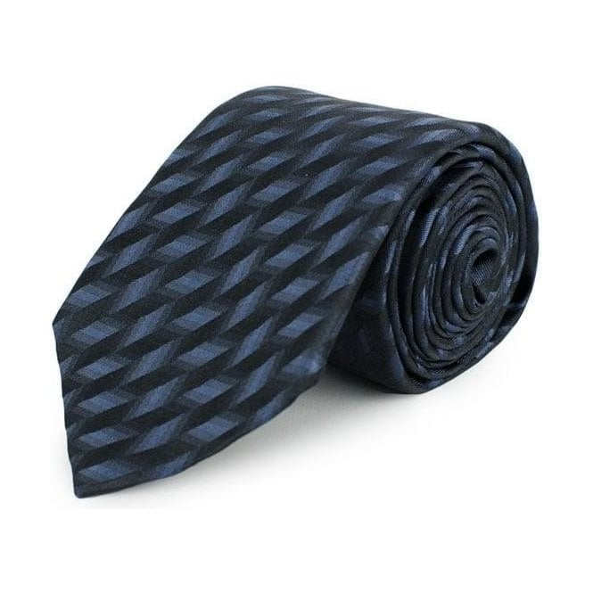 Armani Collezioni Patterned Tie in Charcoal