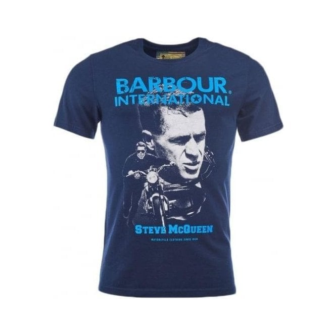 Barbour International Starting Line T-Shirt in Navy
