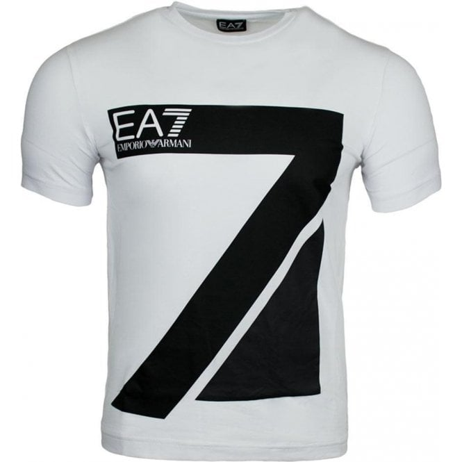 ea7 big logo t shirt