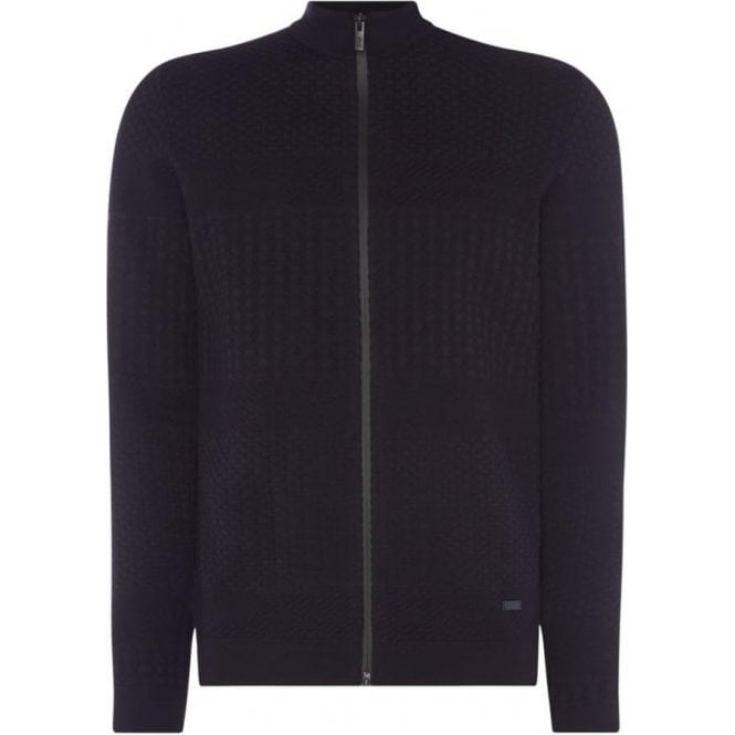 Armani Collezioni Knitted Cardigan in Navy