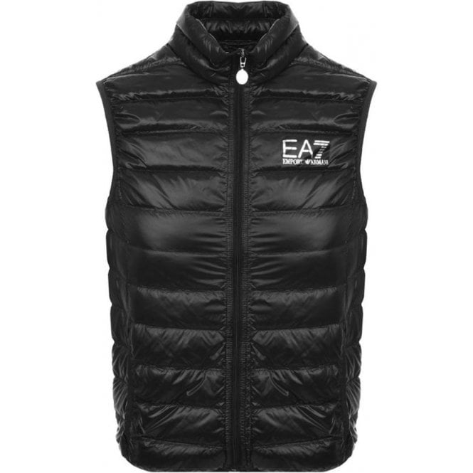 EA7 Quilted Gilet in Black