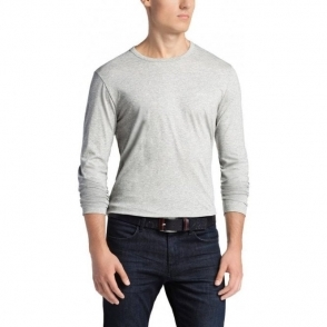 Boss Green T-shirts Togn Long Sleeve in Grey