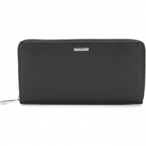 Signature_S Long Wallet in Black